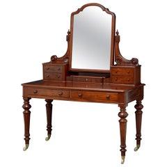 Superb Victorian Figured Mahogany Dressing Table
