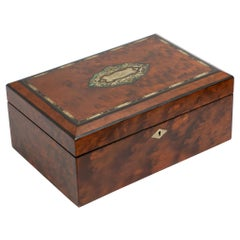 Superb Victorian Jewellery Box in Thyua