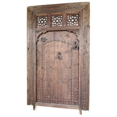 Superb Vintage Handmade Moorish Carved Door Within a Door