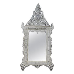 Superb Vintage Large Mother of Pearl Mirror