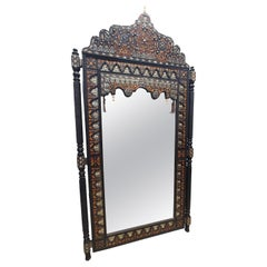 Superb Vintage Moroccan Inlayed Camel Bone Mirror