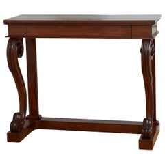 Superb William IV Mahogany Console Table