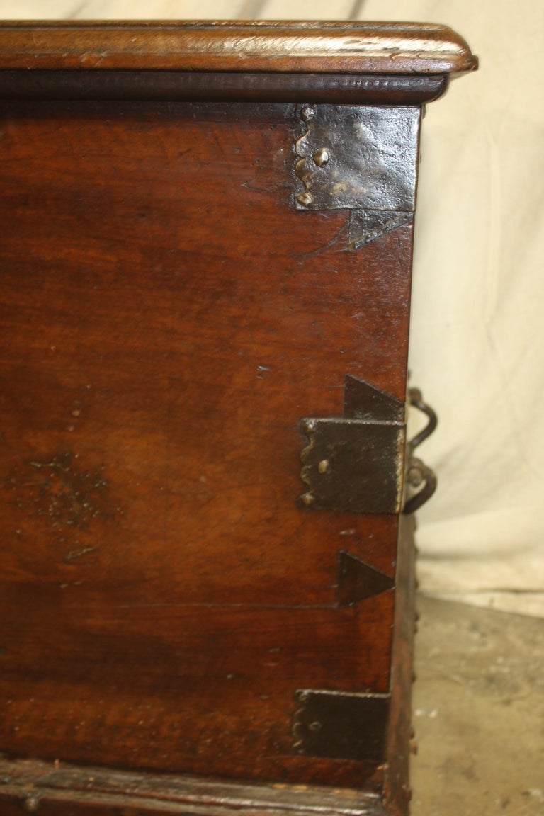 Superbe 17th Century French Blanket Chest or Trunk For Sale 11