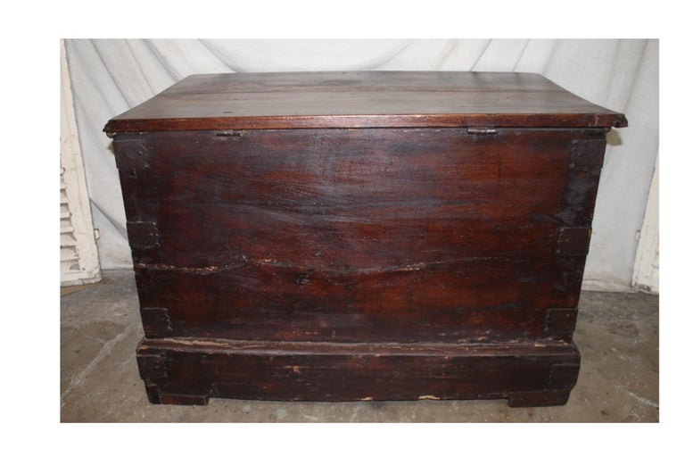 Iron Superbe 17th Century French Blanket Chest or Trunk For Sale