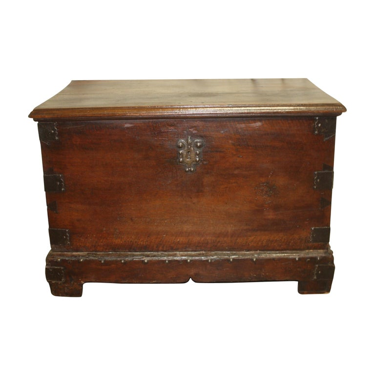 Superbe 17th Century French Blanket Chest or Trunk For Sale