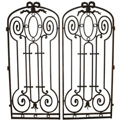Superbe Pair of French 19th Century Iron Gates