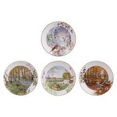 Superbly Decorative Set of Royal Worcester Fine Porcelain Plates