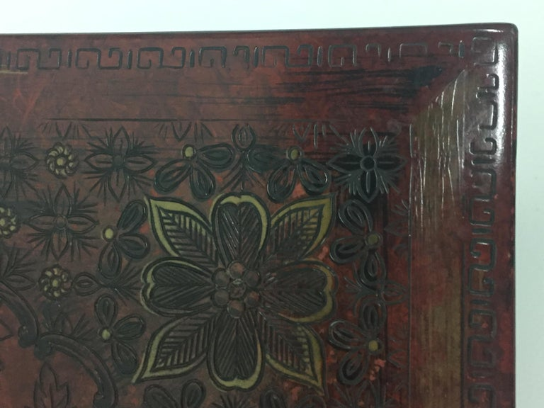 Superbly Rich Pair of Square Asian Style John Widdicomb End Side Tables For Sale 2