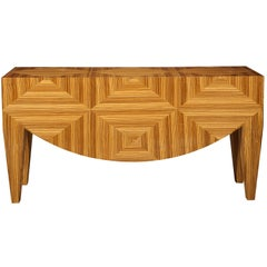 Superbly Veneered Console by Donghia