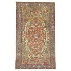 Superfine Antique Persian Malayer, Late 19th Century
