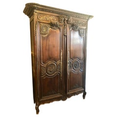 Superior 18th Century French Wedding Armoire