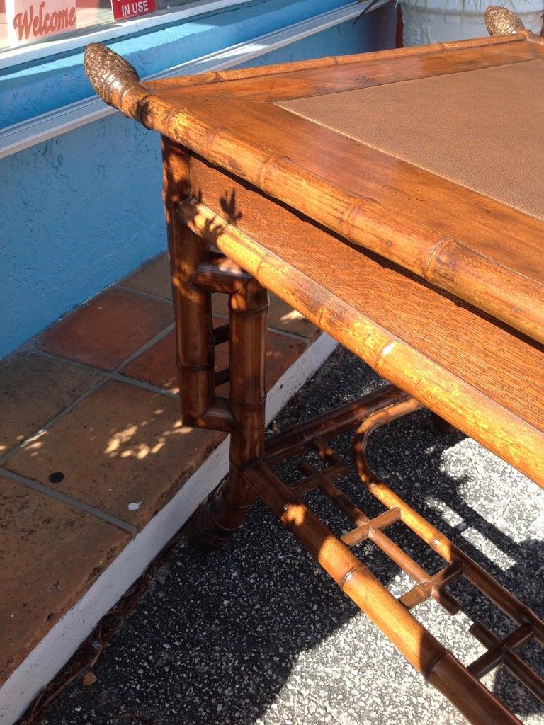 Superior 19th Century Bamboo Desk For Sale 5