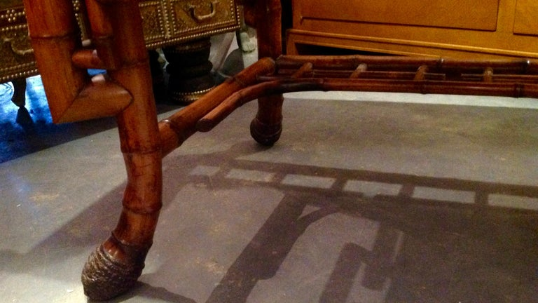 Superior 19th Century Bamboo Desk For Sale 7
