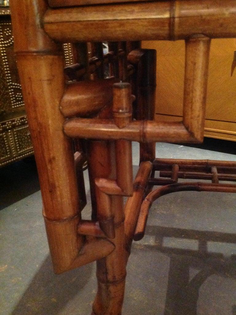 Superior 19th Century Bamboo Desk For Sale 8