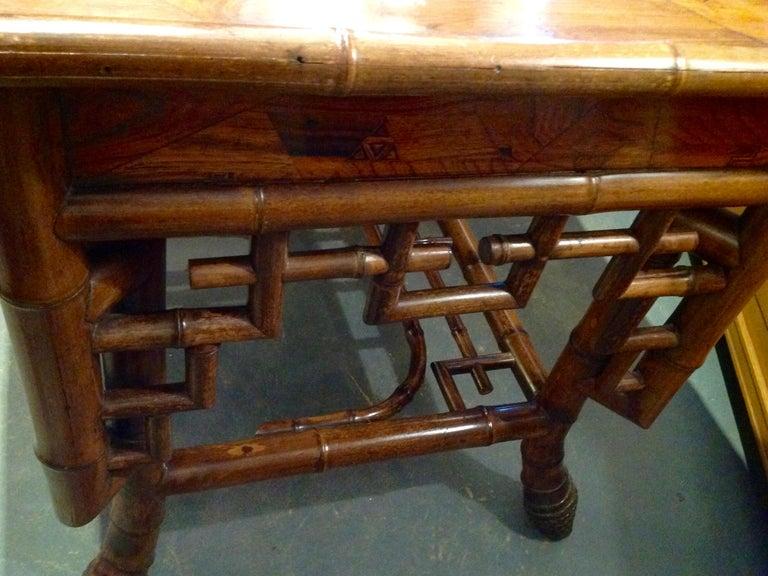Superior 19th Century Bamboo Desk For Sale 10