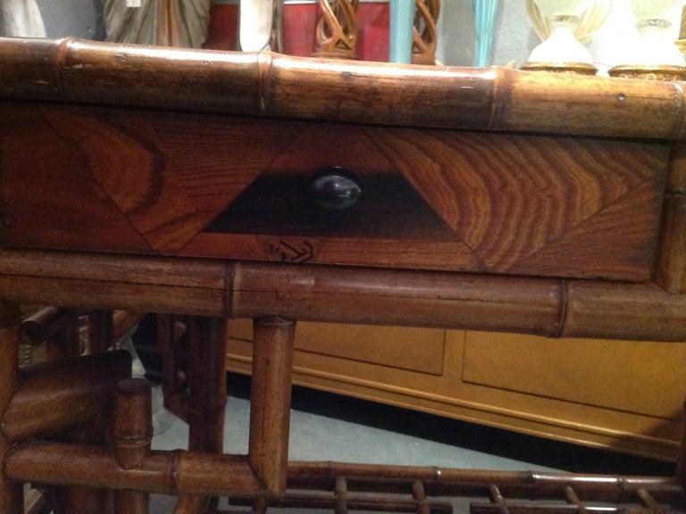 Superior 19th Century Bamboo Desk For Sale 11