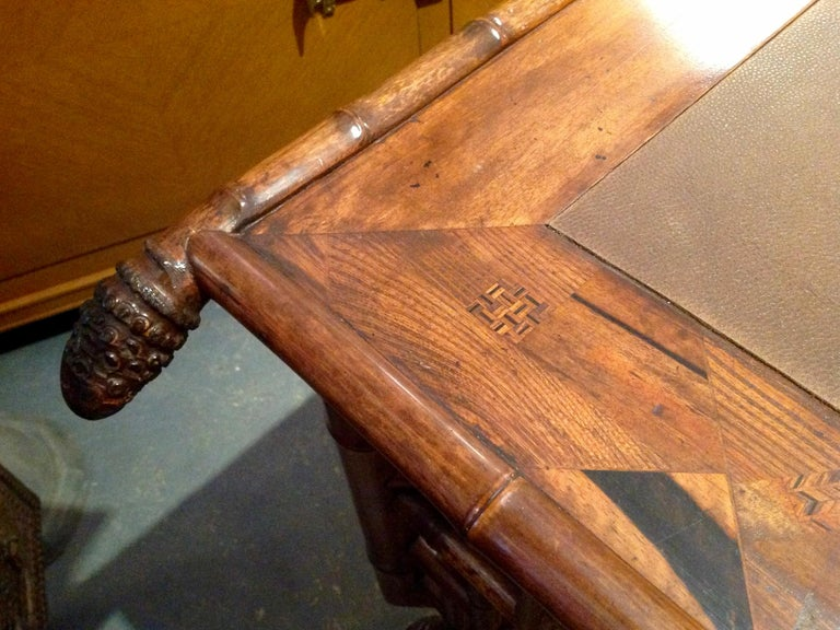 Superior 19th Century Bamboo Desk For Sale 15