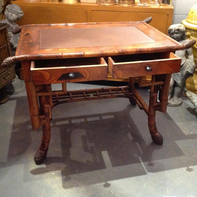 Superior 19th Century Bamboo Desk In Good Condition For Sale In West Palm Beach, FL