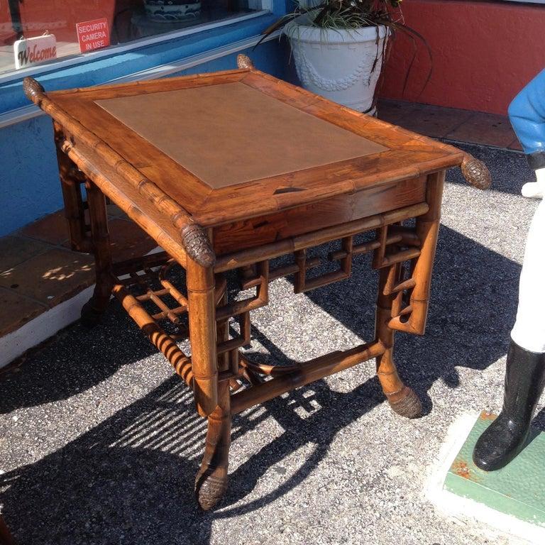 Superior 19th Century Bamboo Desk For Sale 1