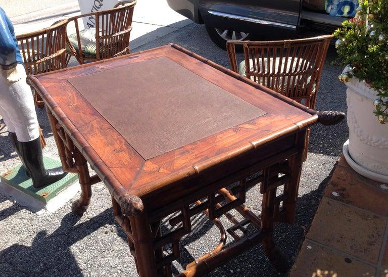 Superior 19th Century Bamboo Desk For Sale 2