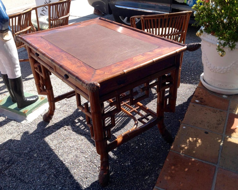 Superior 19th Century Bamboo Desk For Sale 3