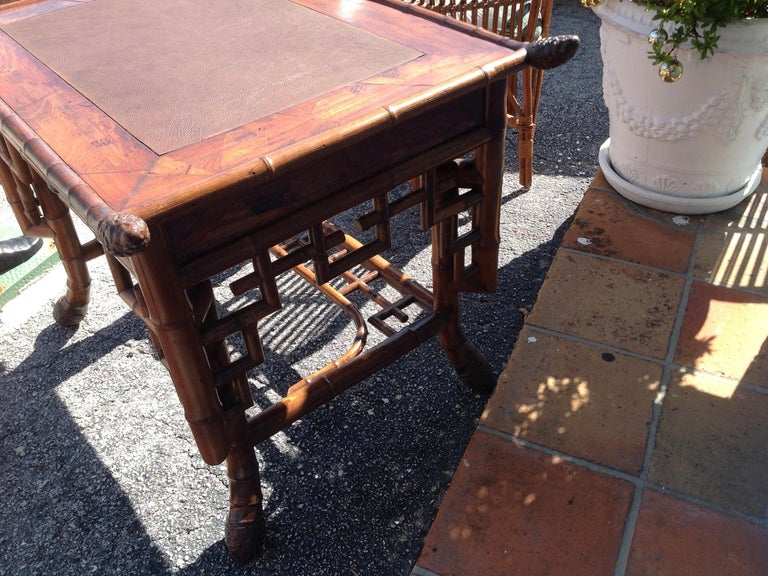 Superior 19th Century Bamboo Desk For Sale 4