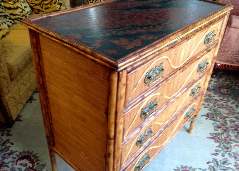Superior 19th Century Bamboo Dresser For Sale 6