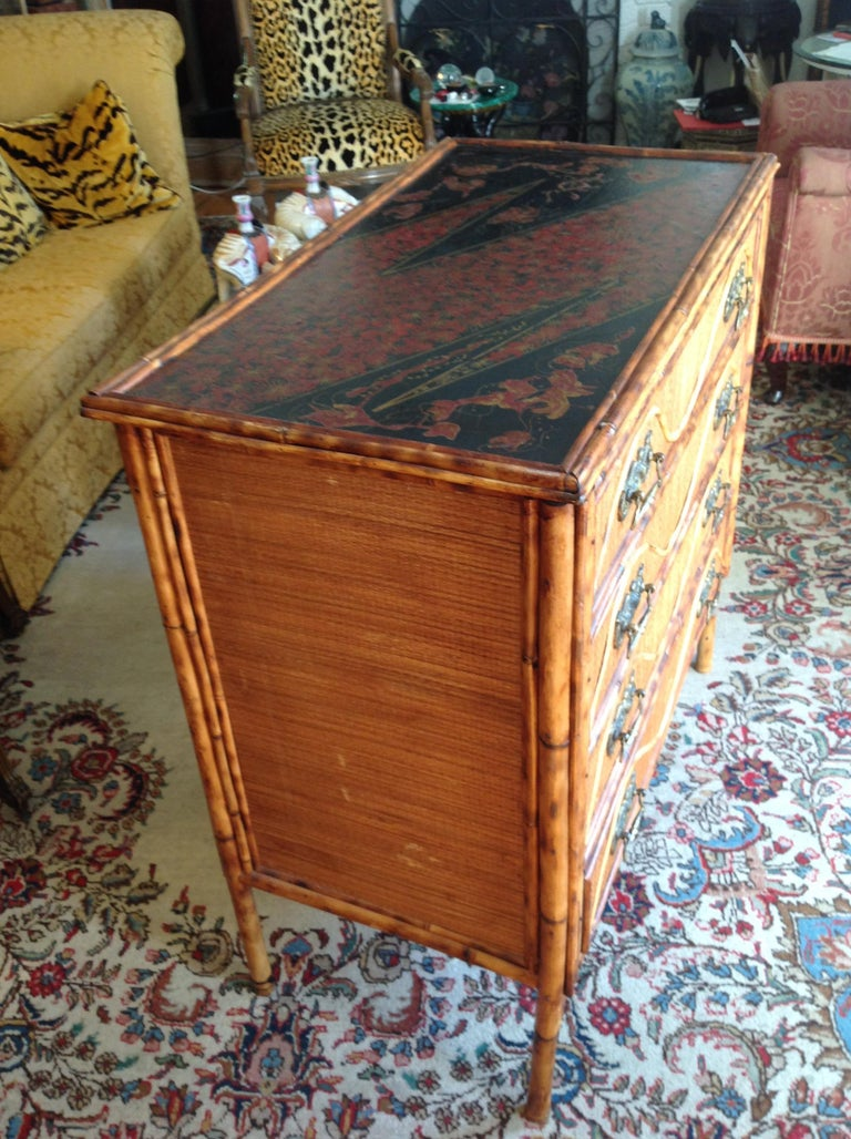 Superior 19th Century Bamboo Dresser For Sale 7
