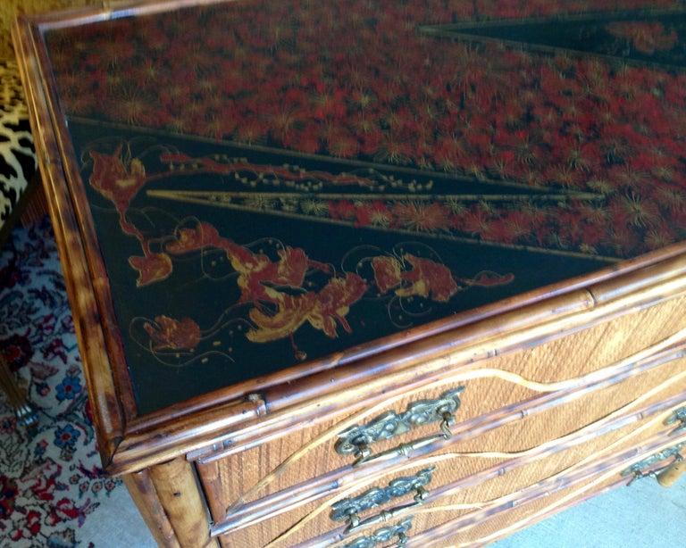 Superior 19th Century Bamboo Dresser For Sale 8