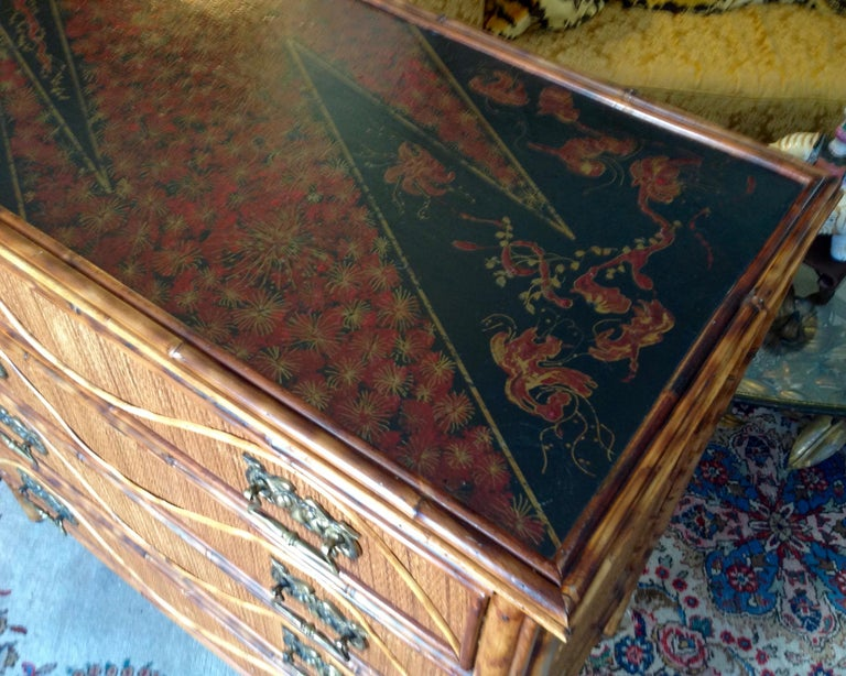Superior 19th Century Bamboo Dresser For Sale 9