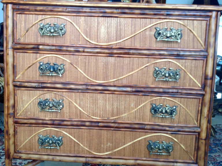 Superior 19th Century Bamboo Dresser For Sale 15