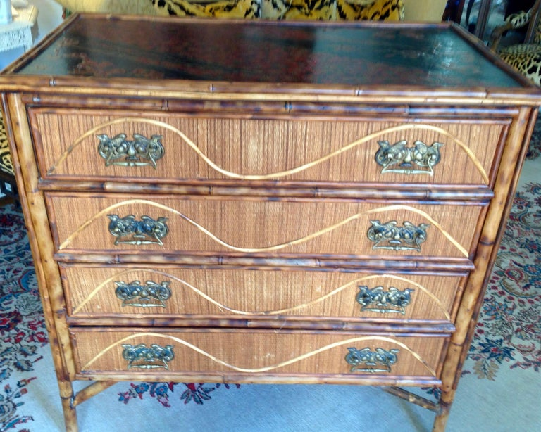 English Superior 19th Century Bamboo Dresser For Sale