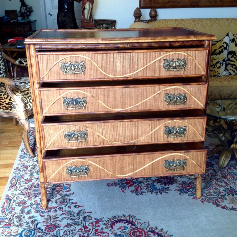 Superior 19th Century Bamboo Dresser In Good Condition For Sale In West Palm Beach, FL
