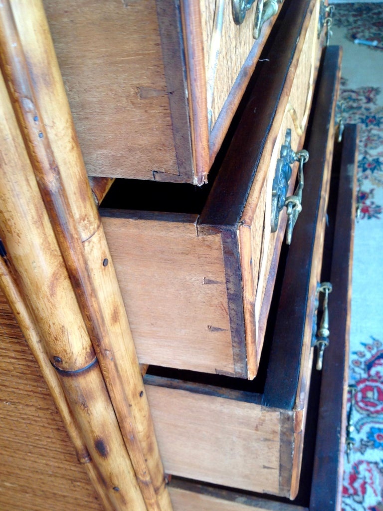 Superior 19th Century Bamboo Dresser For Sale 1