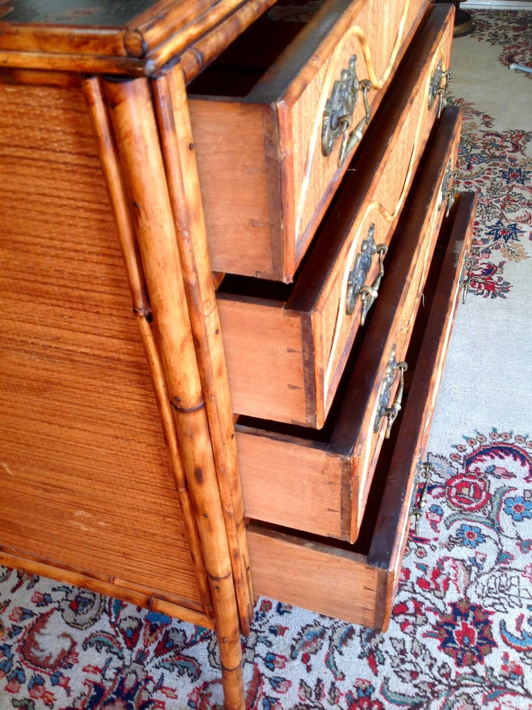 Superior 19th Century Bamboo Dresser For Sale 2