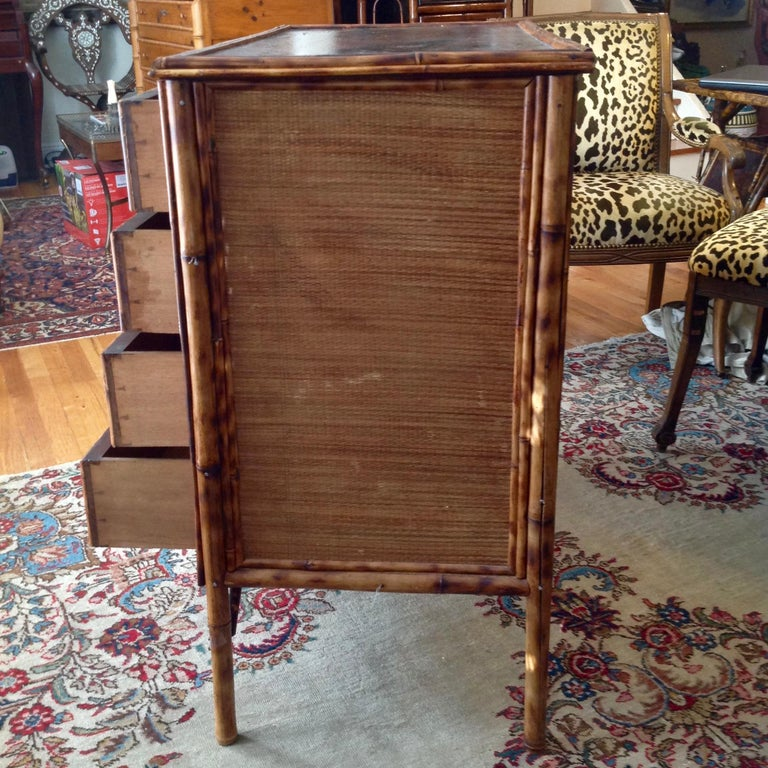Superior 19th Century Bamboo Dresser For Sale 4