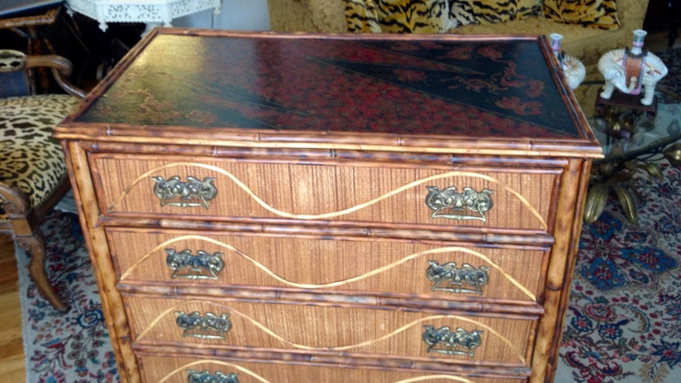Superior 19th Century Bamboo Dresser For Sale 5