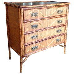 Superior 19th Century Bamboo Dresser