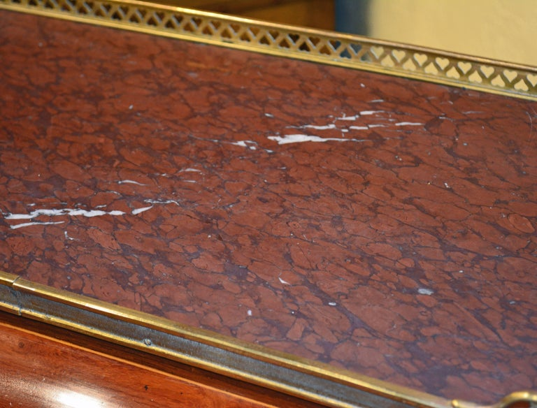 Superior 19th Century French Louis XVI Style Parquetry/Marquetry Cylinder Desk For Sale 7
