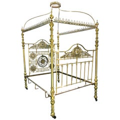 Superior 19th Century Moroccan Brass Bed