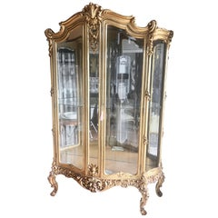 Superior and Large 19th Century Louis XV Style Display Cabinet