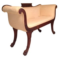 Superior Regency Settee / Hall Seat