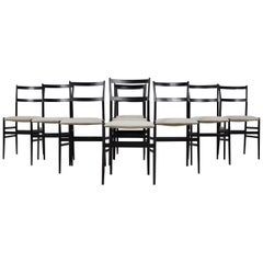 Superleggera Chairs by Gio Ponti for Cassina, 1950S Set of 9