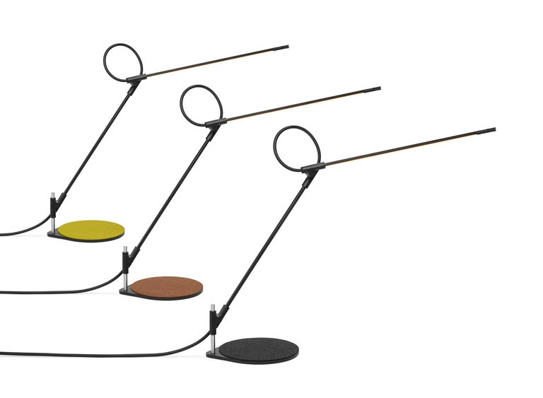 Superlight balances the demands of both workplace and home with a combination of minimal form and maximal function. Superlight is a task light reduced to its essence. A gestural line in space resulting in a precise yet playful structure defying