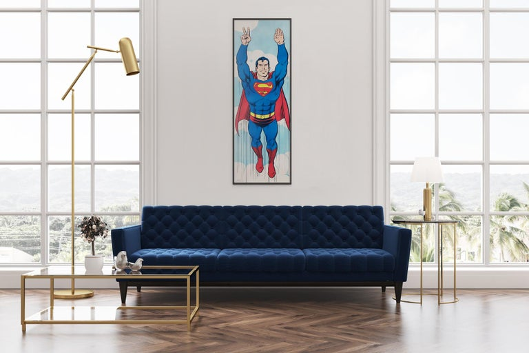 Superman 1971 Peace US door panel poster. A super cool, super huge, super rare vintage 1971 poster!  Fantastic original authorized commercial Superman Peace poster designed by Swan and Anderson and printed by Poster Prints. These posters were only
