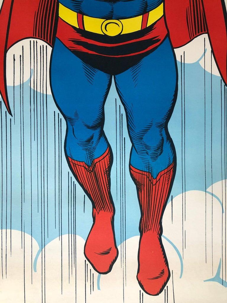 Paper Superman 1971 Peace US Door Panel Vintage Poster For Sale
