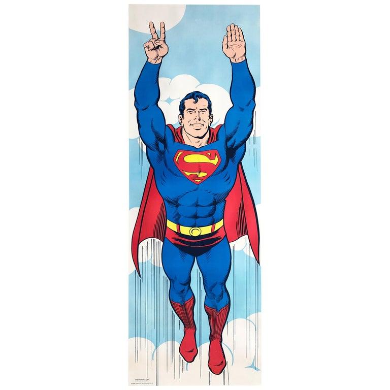 Superman 1971 Peace US Door Panel Vintage Poster For Sale