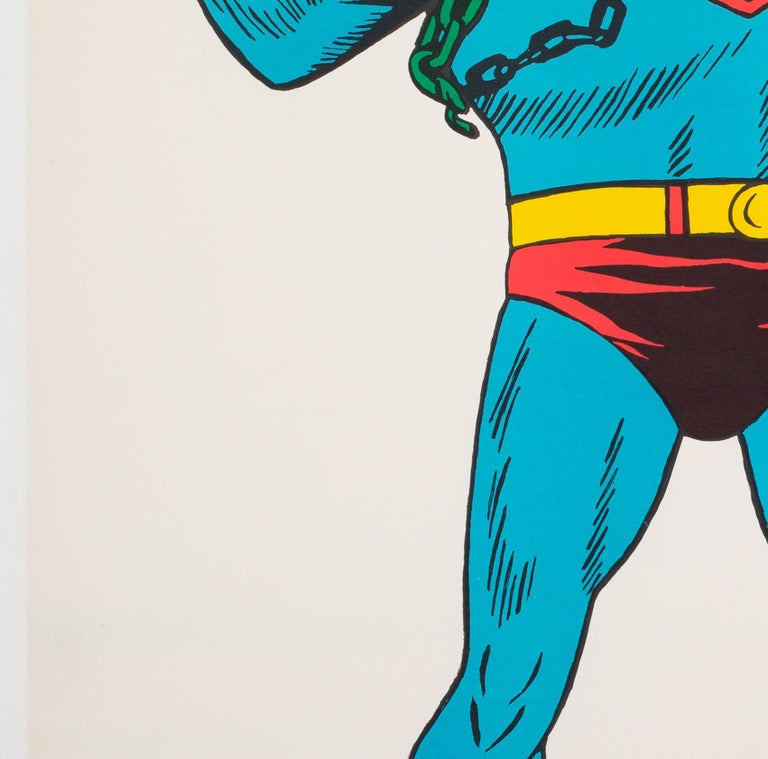 Linen Superman Vintage 1966 US Film Movie Poster