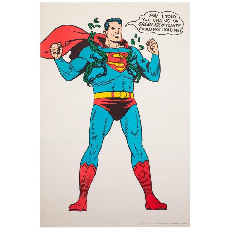 Superman Vintage 1966 US Film Movie Poster