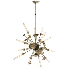 Supernova Chandelier in Gold-Plated Casted Brass